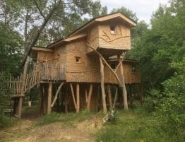One of the nine real treehouses